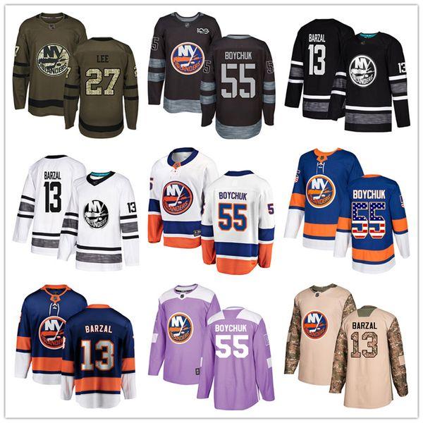 best selling Custom New York Islanders Jersey Mathew Barzal Johnny Boychuk Ryan Pulock Cal Clutterbuck Casey Cizikas Anders Lee USA Fashion hockey jersey