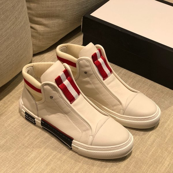 2019 Factory direct selling full platform high-quality soft and comfortable cowhide price is the lowest Tall Casual shoes