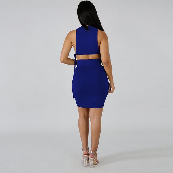Frauen-Kleidung-Frauen-Kleider Nachtclub Sexy Asymmetrisches O Ansatz-Verband-Kleid mit hohen Taille mit V-Ausschnitt, figurbetontes Kleid Frauen Vestidos Rot-Kleider