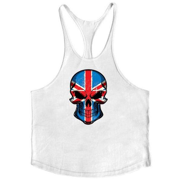 Kafatasları vücut geliştirme stringer tankı üstleri erkekler spor salonları tank spor erkekler atlet kas yelek kolsuz gömlek spor atlet # 379766