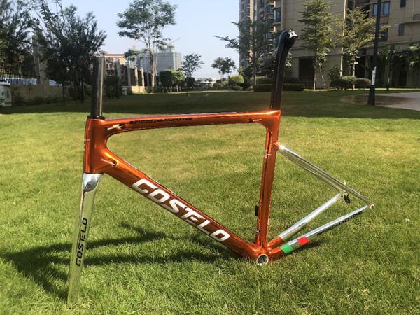 Costelo Speedmachine 3.0 Electroplate Chorm ultra light 790g disc carbon road bike frame bicycle bicicleta frame carbon fiber cheap frame