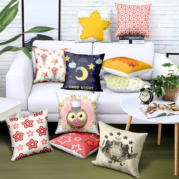 Fantastic Diy Customize Nordic Simplicity Pillowcase Pentagram Printing Brand Advertising Gifts Sofa Car Chair Seat Home Decorative Cushion Covers Wicker Patio Unemploymentrelief Wooden Chair Designs For Living Room Unemploymentrelieforg