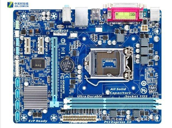 Freies ursprüngliches Motherboard des Verschiffens für Gigabyte GA-H61M-DS2 LGA 1155 DDR3 H61M-DS2 16GB Unterstützung I3 I5 I7 H61 Desktop-Motherboard