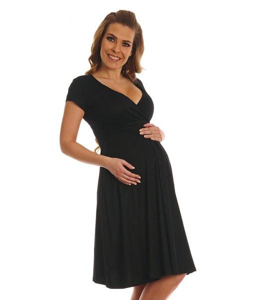 Maternity Deep V-neck Dresses Short Sleeve Summer New Women Clothes Elegant Pregnant Long Blue Pencil Dresses