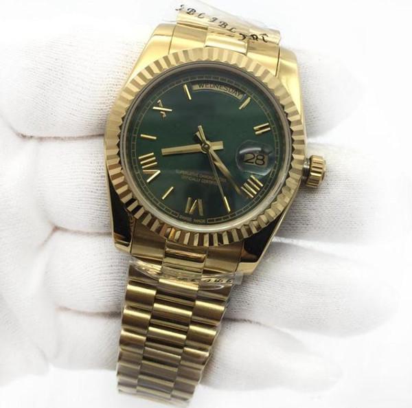 Relojes de moda para hombre Day-Date Watch Mans Mechinal Watch 40Mm Size Sapphire Glass Quality Relojes de pulsera Relojes de acero inoxidable Reloj de pulsera