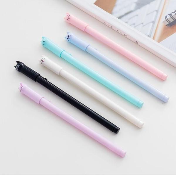 Gatos bonitos gel canetas coreano papelaria tinta preta 0.5mm cartoons canetas gel kawaii canetas de assinatura para a promoção presente escola material de escritório