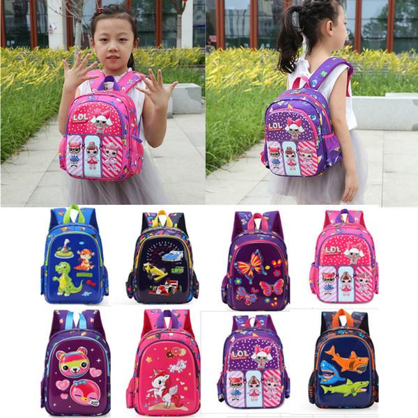 Ins Surprise Girls Unicorn Baby Shark Cartoon Shoulder Bag Kids 3D Backpack Kindergarden Book Bag Boys Girls Cars dinosaur Schoolbag B71804