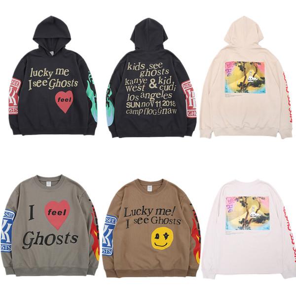 Kanye West KIDS SEE GHOSTS Hoodie Men Pullover 2019 New arrived Fashion Best Quality Sweatshirts Hip Hip Hoodies Y190830