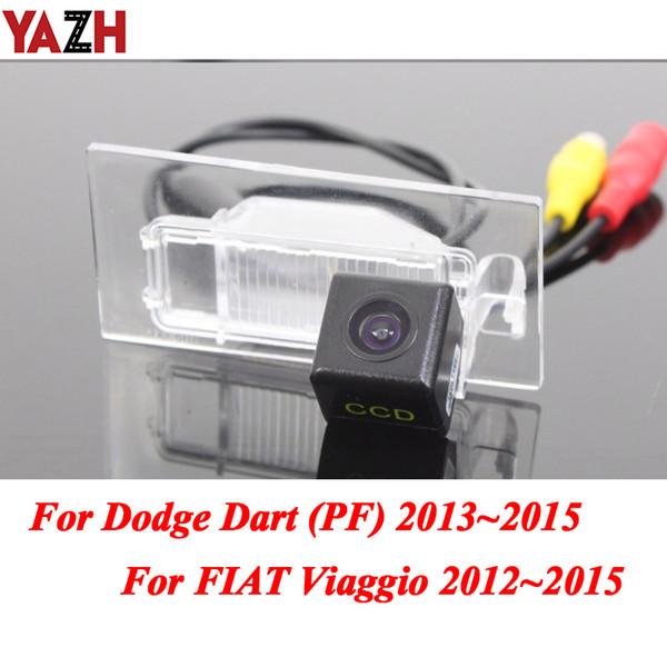 YAZH Per Viaggio Per Dodge Dart ~ 2015 auto CCD retrovisore Parcheggio 2012 sostegno di inverso di retrovisione della macchina fotografica HD del CCD di visione notturna