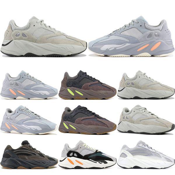Salt Inertia 700 Wave Runner OG Solid Grey Herren Damen 3M 700 V2 Geode Statisch Lila Kanye West Sport Designer Sneakers 5-11.5