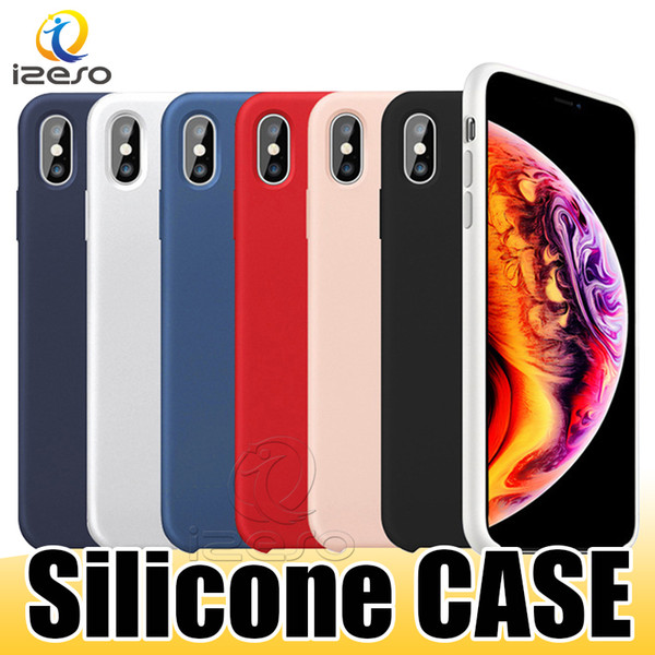 OEM Quality Liquid Silicone Case for iPhone Xs Max Xr X 8 7 6 Plus Gel Rubber Shockproof Phone Cases with Retail Box