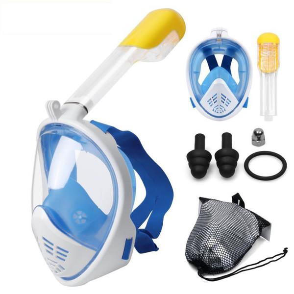 Máscara de buceo Buceo de cara completa Máscara de snorkel antivaho antiniebla Máscara de buceo para nadar Pesca submarina Buceo Hombres Gafas de moto