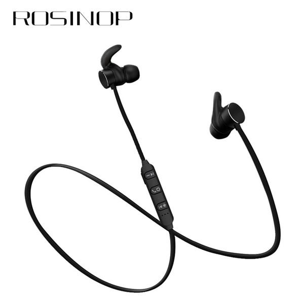 Rosinop Manyetik Kulaklık Spor Kablosuz Kulaklık Bluetooth Kablosuz Kulaklık Handsfree Iptal 5.0 Gürültü Kulaklık auriculares