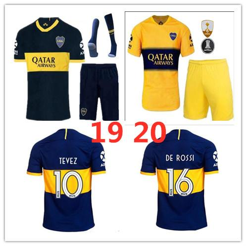 2019 Boca Juniors soccer jerseys 19 20 ADULT KIT DE ROSSI TEVEZ PAVON GAGO OSVALDO PEREZ Benedetto MEN SET Edwin Cardona Football shirts