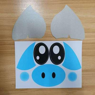 ملصق خنزير أزرق ، الصمام لون ضوء الملاحظة