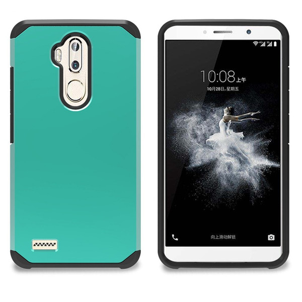 new style a6144 ceab9 Dual Layer Slim Armor Combo Case For ZTE N9131 Tempo Z820 Obsidian  Z812/Z813/Overture 2 Z970 ZMAX Cover Shockproof Protective Shell Reiko Cell  Phone ...