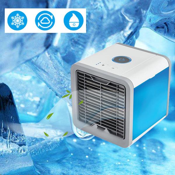 Tragbare USB Klimaanlage Luftbefeuchter Luftreiniger Farben Licht Desktop Luftkühler Luftkühler für Office Home
