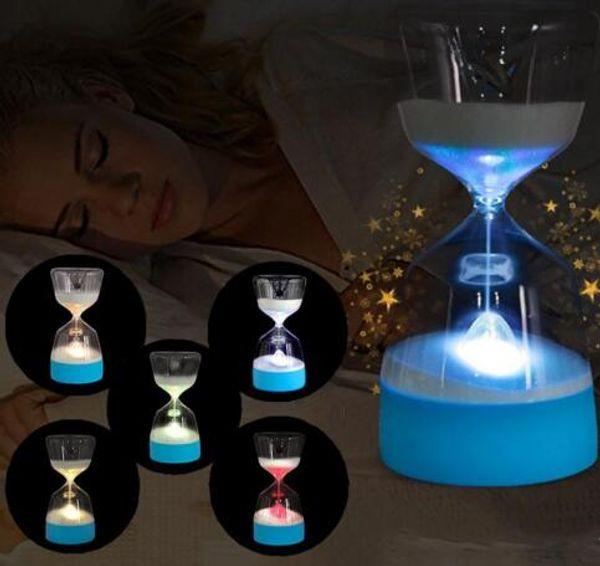 LED Sanduhr Nachtlampe Wohnkultur Farbwechsel Party Lichter Weiche Baby Kind Schlafen Smart Charge USB Schlafzimmer Nachttischlampe Geschenk