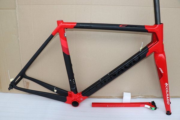 black red 2019 Colnago C64 Carbon Frame Full carbon road bicycle bike frame set fit Di2 Sloping Mechanical gear