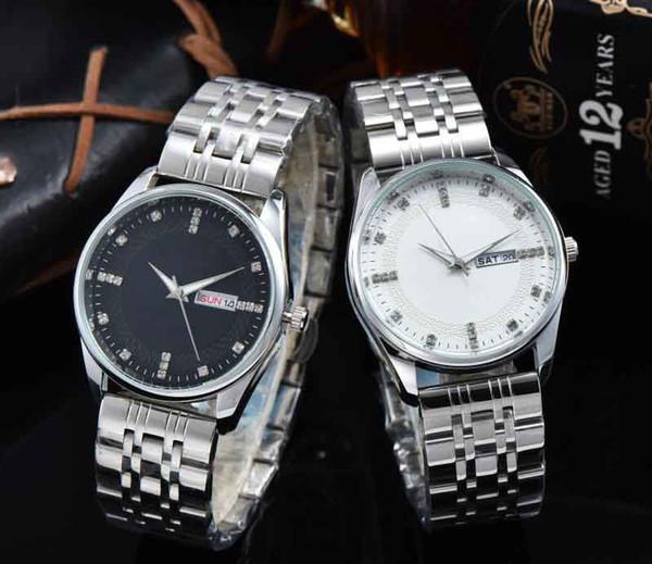 TOP Luxus Designer Herren Quarz elektronische Uhren Herren Business Tisch alle Stahl Metall hoch verbesserte Spiegel Kalender elektronische Uhr bevorzugen