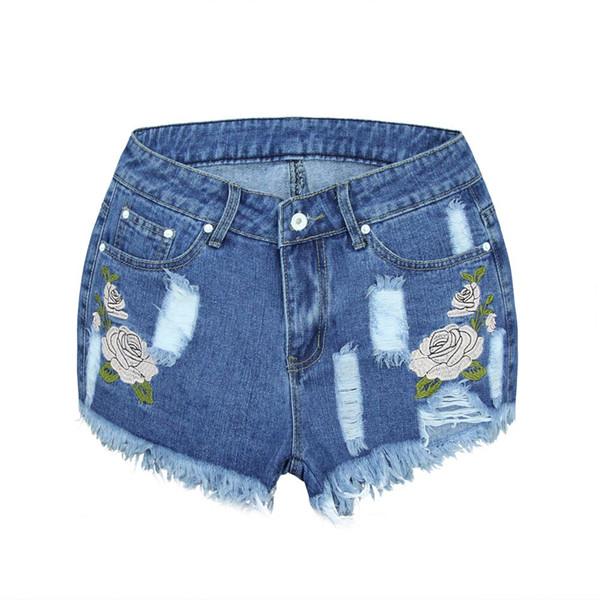 Denim Shorts Women Fashion Ladies Tassel Hole High Waist Summer Short Jeans Sexy Mini Booty Shorts for Woman #0225