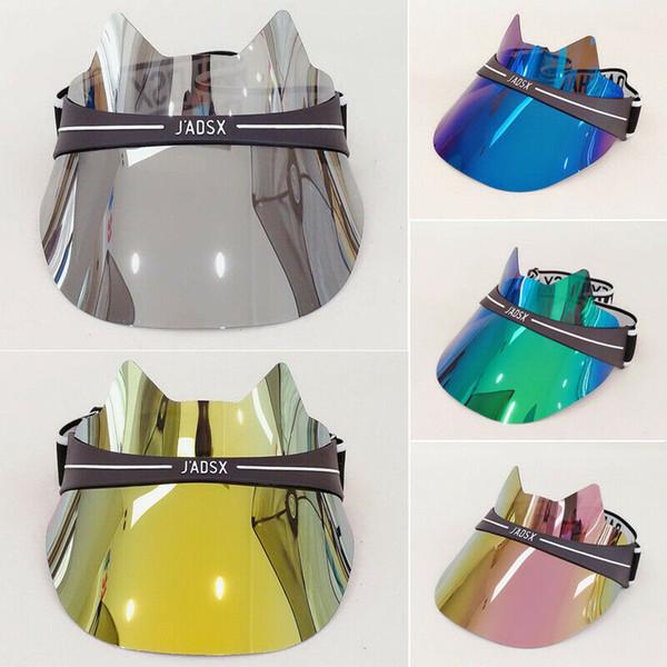 조절 가능한 썬 바이저 햇 헤드 밴드 캡 UV 하이킹 용 투명 UV 보호