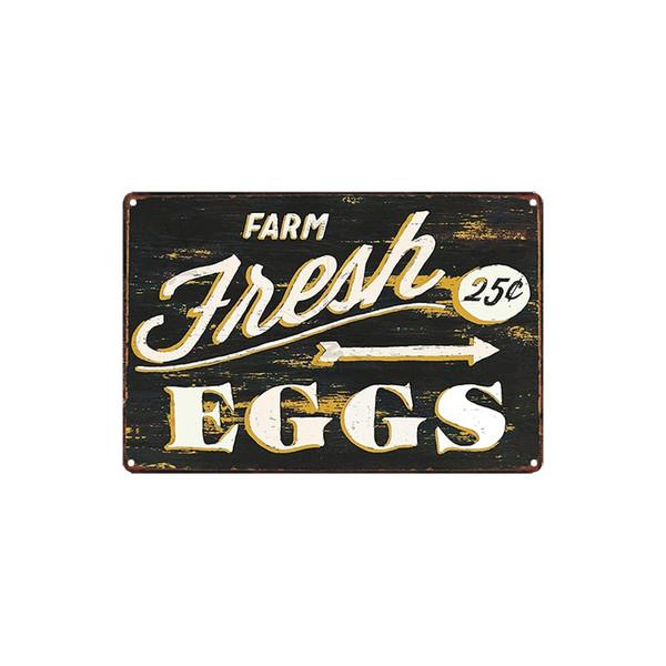 classic vintage FARM Fresh EGGS marvin the Martian eggs for sale tin sign Coffee Shop Bar decoration Bar Metal Paintings