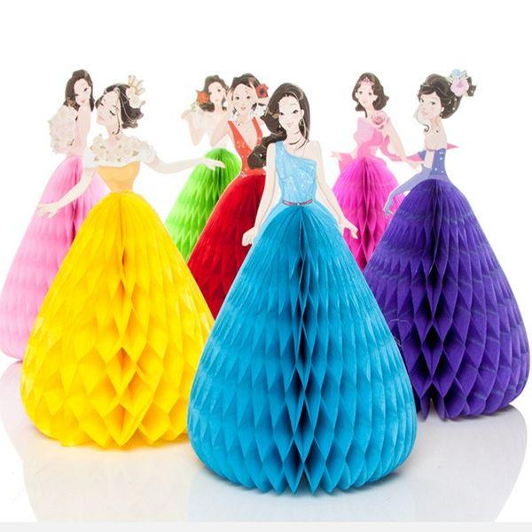 3D Pop Up Dans Prenses Çocuk Doğum Günü Davetiyeleri Kart 3D Tebrik Kartı Mesaj Kartı Çocuklar Doğum Günü Hediye Kartları