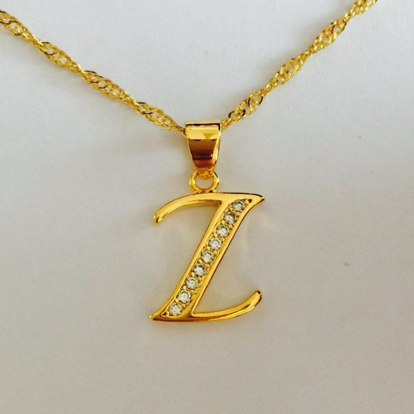 Ustore8 Wholesale New 18K Gold Plated Cubic Zircon CZ Wedding Gift Japanese Anime Dragon ball Z Pendant Copper TWIST Chain Necklace