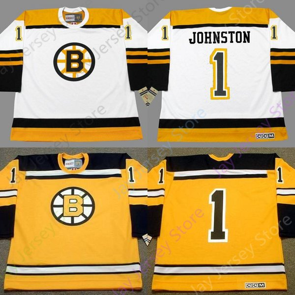 on sale 3ea38 63b3b 2019 Custom EDDIE JOHNSTON Boston Bruins 1966 CCM Vintage Throwback Away  Hockey Jersey From Morejersey, $30.46 | DHgate.Com