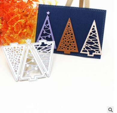 Metal Cutting Dies Merry Christmas Tree Background Frame DIY Scrapbooking Die Cuts Carte de Voeux Décor Gaufrage Dossier Cut