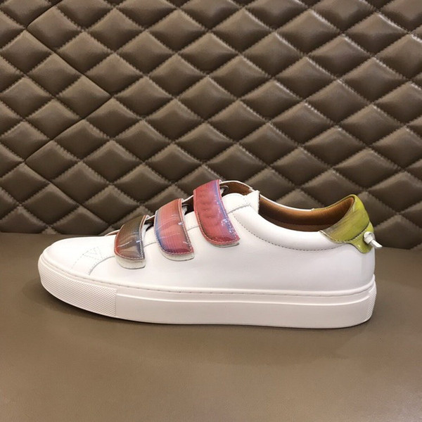 fashion brand designer shoes for man fancy low top real leather rubber sole summer winter designer sneakers G flat shoes with box