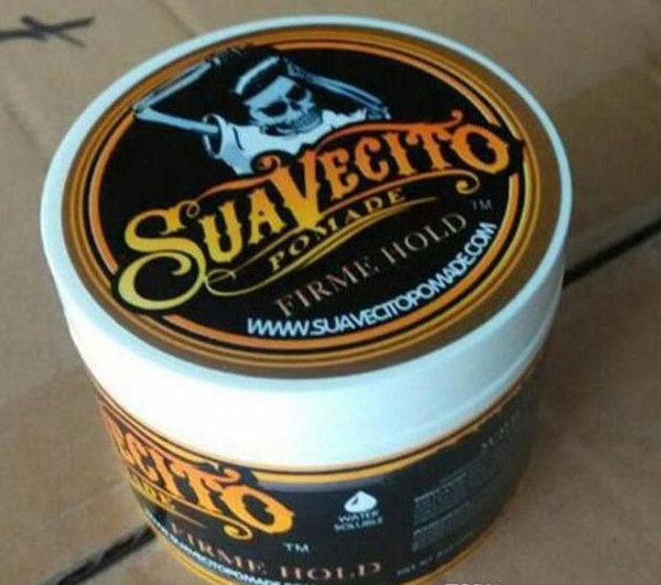 top popular Suavecito Pomade Hair firme hold Pomades Strong hold restoring ancient ways big skeleton hair slicked back hair oil wax mud 2021