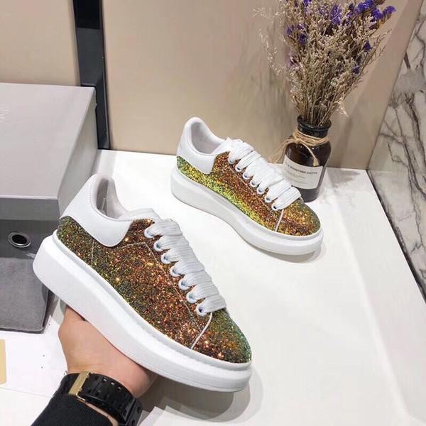 Moda Tasarımcısı Sneaker Adam Kadın Rahat Ayakkabılar Hakiki Deri Örgü sivri burun Yarış Koşucu Ayakkabı Açık Havada Eğitmenler xrx190409101