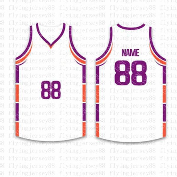 Haut Personnalisé Basketball Maillots Broderie Logos Jersey Maillots Livraison Gratuite en Gros Pas Cher n'importe quel Numéro Taille S-XXLtgw2