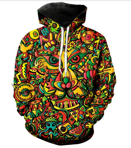 New Fashion Women Men Psychedelic Hoodies Casual Style 3d Print Hoodie Autumn Winter Sweatshirts Hoody Tracksuits Tops RW0325