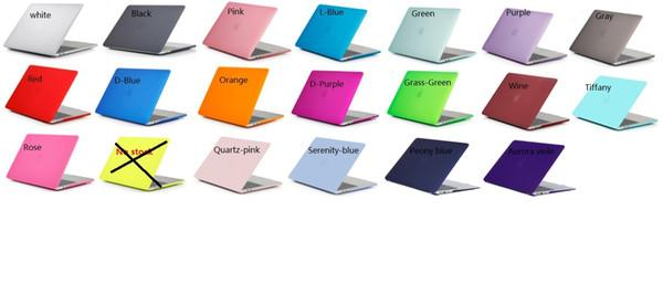 Case for MacBook air pro 11 12 13 15 cases Hard matte shell Front Back Full Body laptop Case Shell Cover Retina A1708 A1706 A1707
