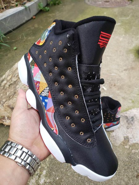 13 CNY Chinese New Year Black Red Men Baby Kids Basketball Shoes with Jumpman 13S Fashion multicolored pattern Mens outdoor Sports Shoes