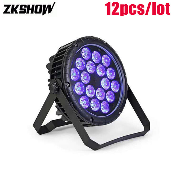 80% Discount 18*10W IP65 200W RGBW LED Flat Par Light DMX512 DJ Disco Party Music Show Decoration Stage Lighting Equipment Luz DJ