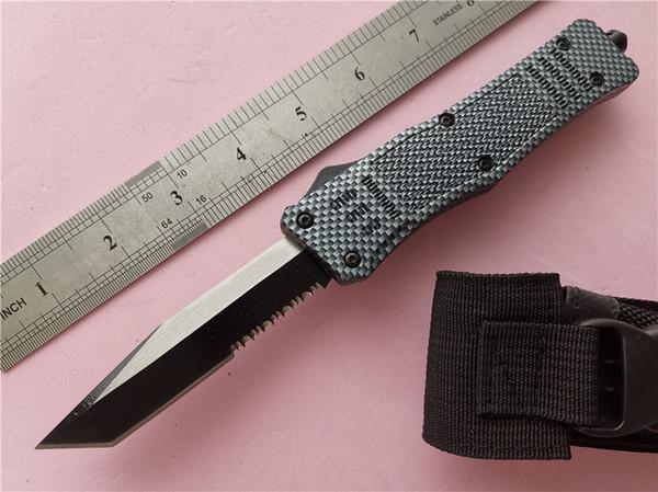 Бесплатные DHL Автоматические Ножи Большой A161 Углеродистая 440C сталь Лезвие Цинк алюминиевая ручка EDC Тактический Карманный Нож Кемпинг Нож Инструменты Персонализированные