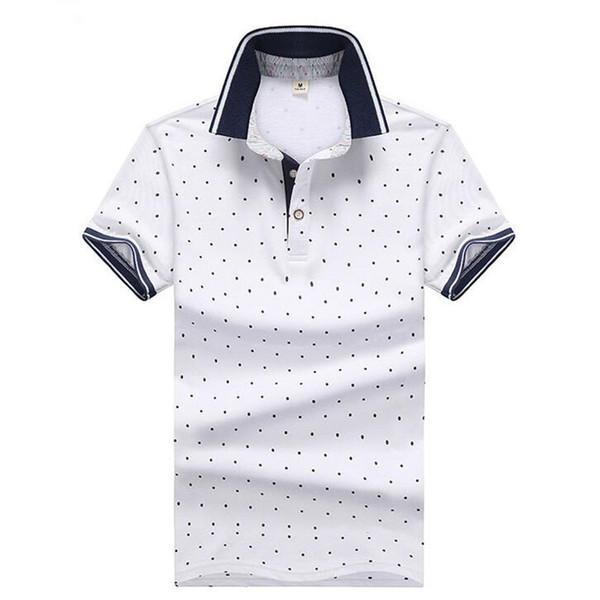 New Japan Korea Women Polka Dots Print T-Shirts Knit Cotton Short Sleeve Stand Collar Unisex youth Elastic black white Teen Tees Shirts
