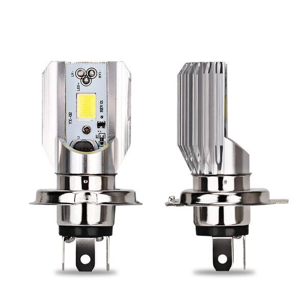 H4 LED Moto phare HS1 phare cyclomoteur Scooter ATV Moto Ampoules Accessoires Moteur COB 12 V Salut-bas 8 / 4W