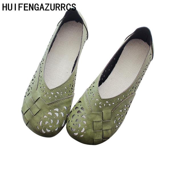 HUIFENGAZURRCS-Tek Ayakkabı Yaz Sandalet Peri Rüzgar 2019 Yeni Hollow Hava geçirgen bayan Ayakkabıları Japon Bebek Ayakkabı, 3 renkler