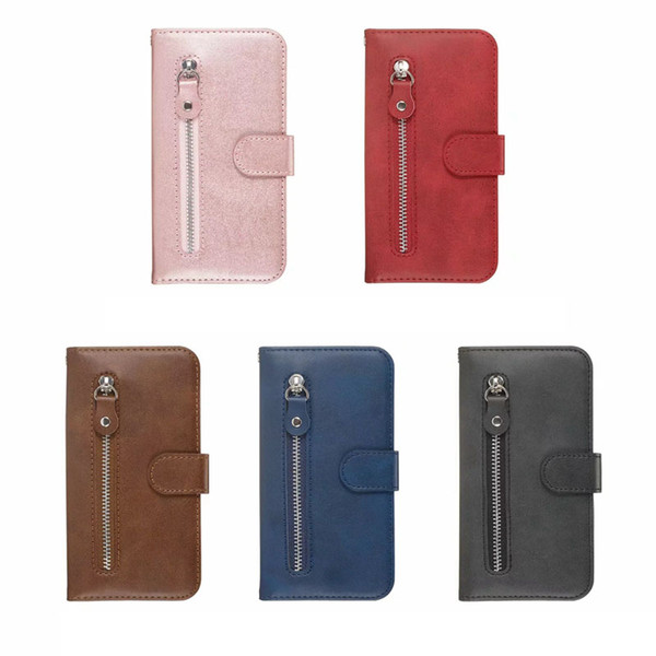 Zipper Leather Wallet Case For Iphone 11 5.8 6.1 6.5 2019 XR XS MAX X 8 7 6 Coin ID Cash Slot Holder Magnetic Luxury Phone Cover Lanyard