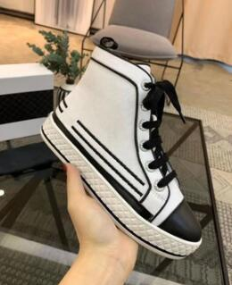 Luxury Casual Designer Shoe Lace-up pearl canvas casual high-top shoes High Quality Speed Trainer Sneakers Runners black Shoes 80