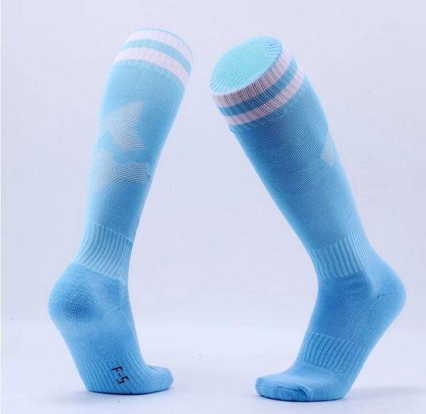 top design di calcio lungo tubo asciugamano fondo calzini acquisto di gruppo all'aperto Allenamento Calze Gara sostituto capelli calzino sport colore solido