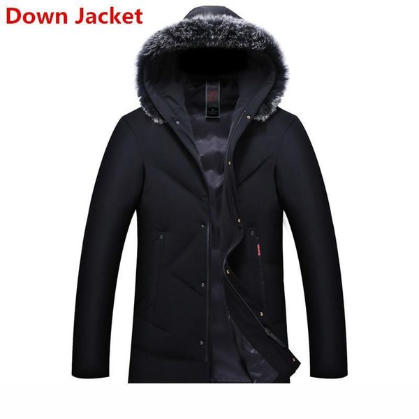Thicken Duck Down Jacket 8XL 6XL 5XL 2018 Warm mens Winter and coats long parka Fur Collar Hooded Coat Plus Size Overcoat