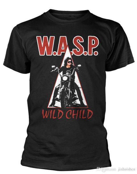 Cotton Men t-shirt WASP ' Wild Child ' T-SHIRT - NUOVO E ORIGINALE Printed t shirt Men t shirt Casual Tops