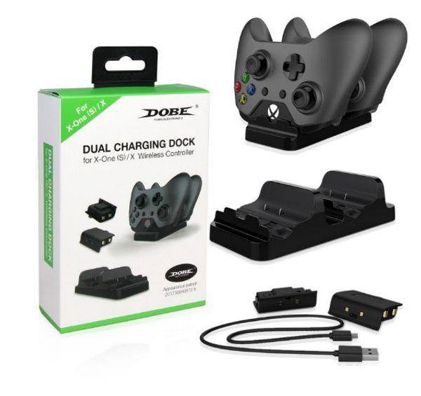 Xbox One / Xbox One S Denetleyici Şarj Cihazı - 2 Şarj Edilebilir Pil Paketi ile Çift Şarj İstasyonu İskelesi