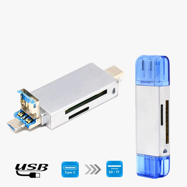 3 In 1 USB 3.1 Type C & Micro USB & USB Card Reader SD TF Type-C Card Reader for Samsung S9 Macbook